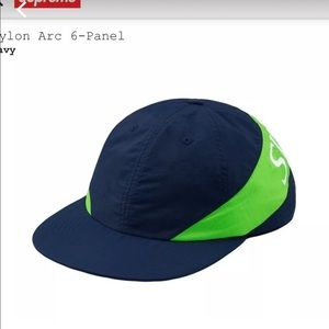SUPREME Nylon Arc 6- Panel Hat